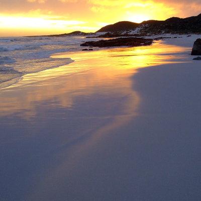 Voorvertoning Sea Point, overdag geweldig, maar 's avonds met de taxi naar hui