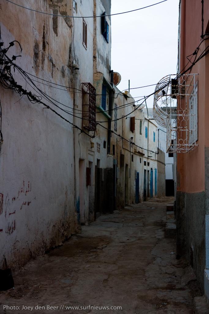 De straten van Taghazoute, Agadir.