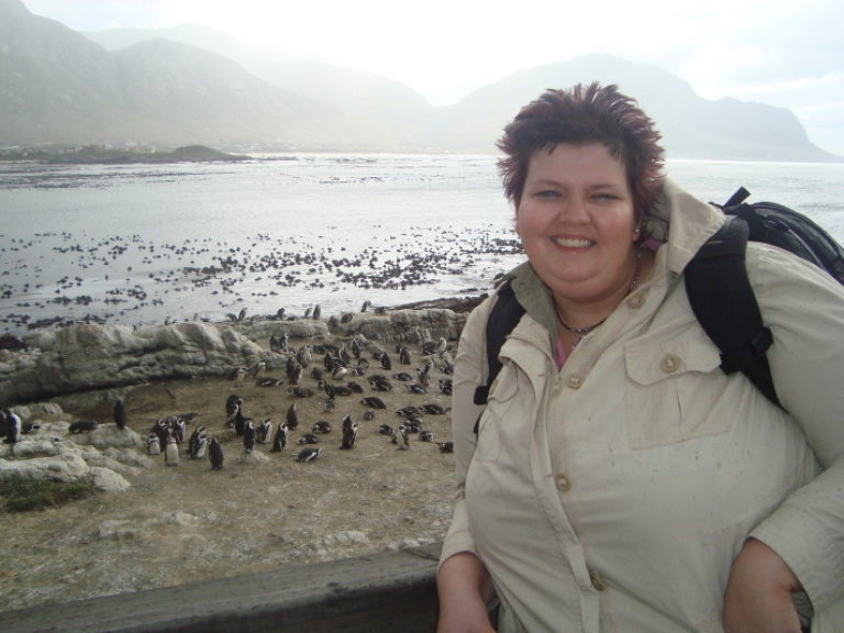 ik bij de pinguïns