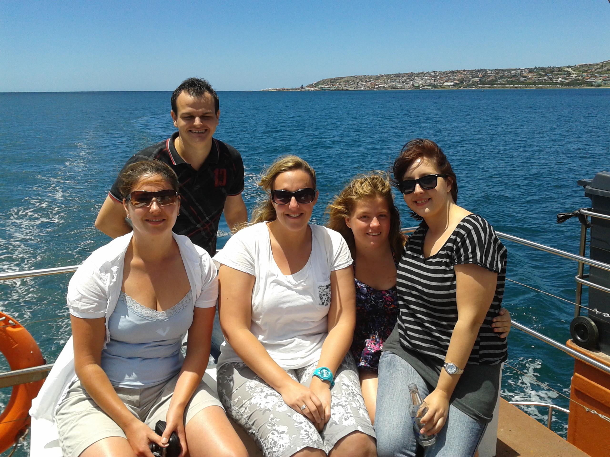 Tijdens het rustige boottochtje....