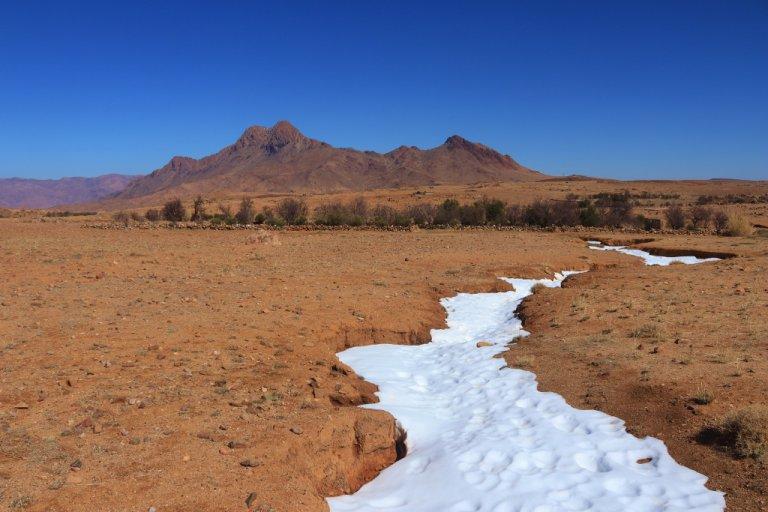 Sneeuw in de Sahara