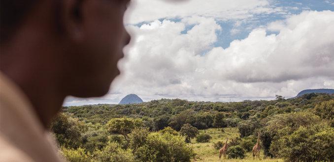 Columbus-team op pad, tijdens wandelsafari in Limpopo