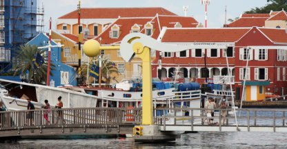 gekleurde huizen van Curacao