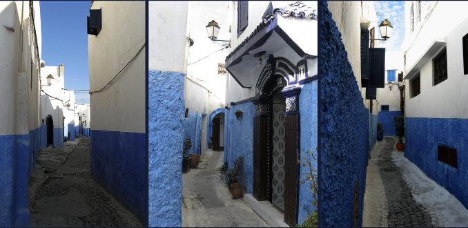 Blauw doolhof