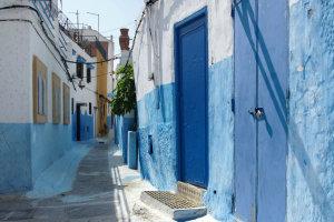 Weer eens een andere kleur in Marokko