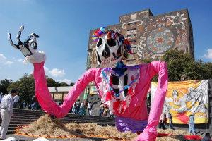 Festival dag der doden bij de universiteit