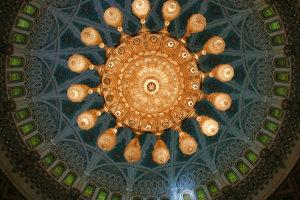 met open mond - Sultan Qaboos moskee, Muscat