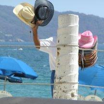 Op het strand van Acapulco