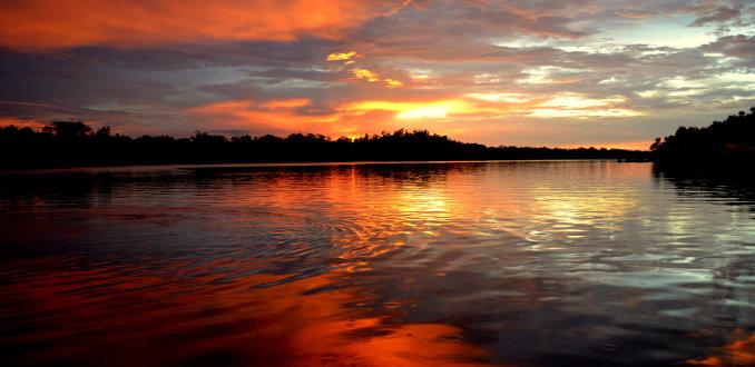 Santubong, zonsondergang
