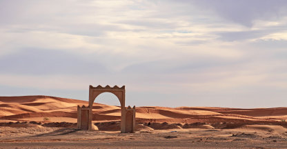 poort naar de zandduinen