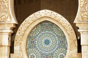 Groot(s) detail Hassan II moskee