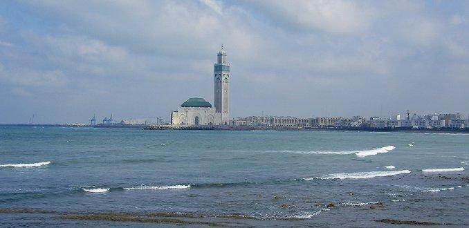 zicht op Casablanca