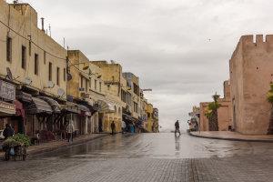 Meknes in de regen