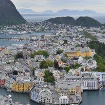 Uitzicht over Alesund