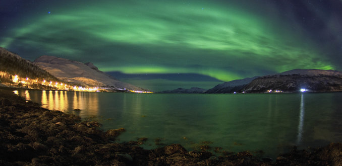 Licht storm in Noorwegen