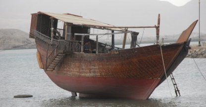Traditionele dhow boot