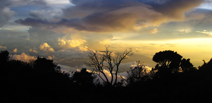 Sunset Mt Kinabalu