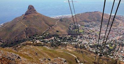 Zicht vanaf de Tafelberg