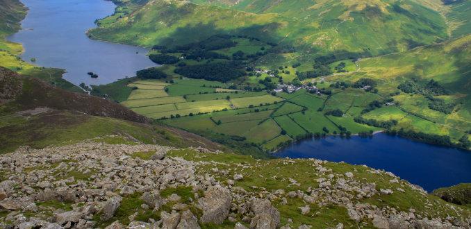 Uitzicht vanaf high stile ridge