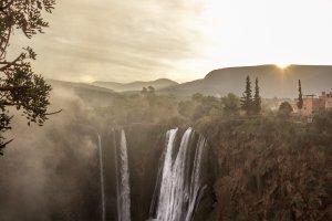 Cascades van Ouzoud bij zonsopkomst