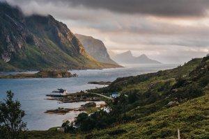 Het fjord bij Unnstad