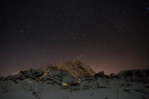 Een kraakheldere hemel vol sterren!