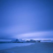Verlaten strand op de Lofoten