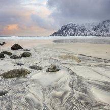 Patronen in het zand