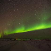 Noorderlicht aan een heldere sterrenhemel