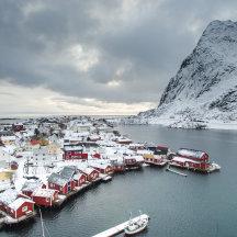 Winters Reine op de Lofoten