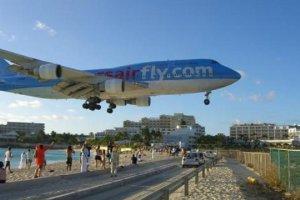 landing op Princess Juliana International Airport St.Maarten