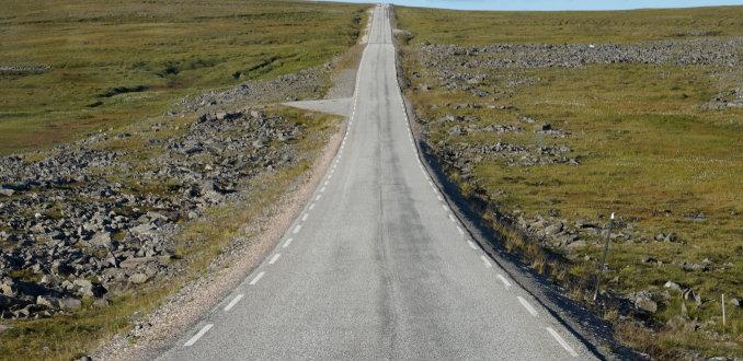 Weg naar de Noordkaap