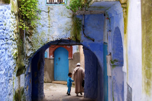 straatje in Chefchaouen