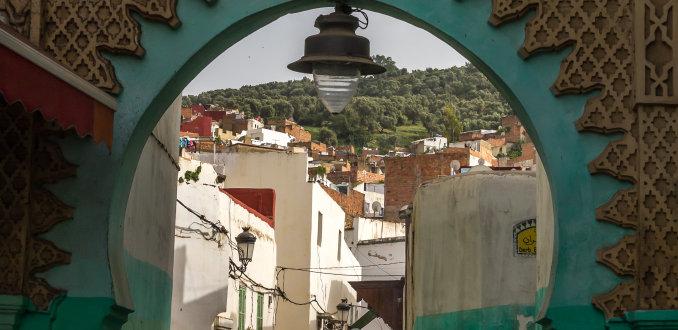 De stadspoort van Ouezzane