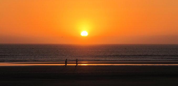 Hardlopen op strand