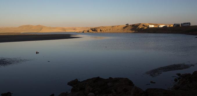 Oued Chebika met een plek voor campers