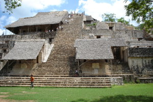 Maya tempel in Ek Balam.