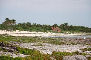 Aan de kust van Yucatan