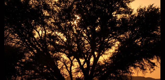 Zonsondergang Namibië