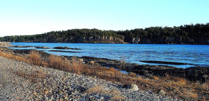 Kijkje over een fjord