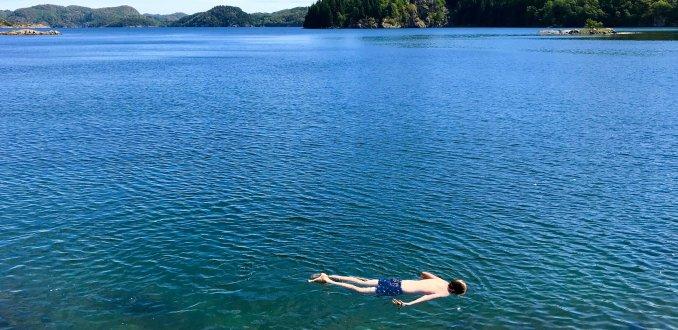 Zwemmen in de Noorse fjorden