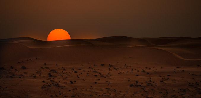 Wahibi sunset