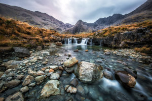 Fairy Pools op de Isle of Skye in Scotland.