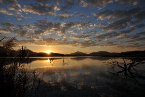 zonsopgang in het Pilanesberg NP