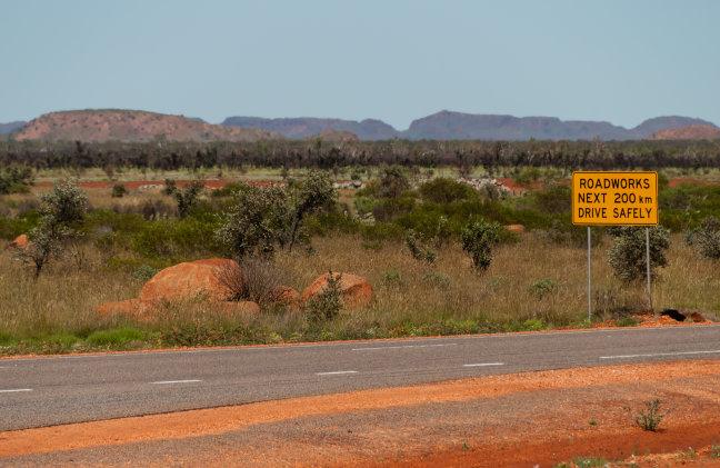 Roadworks in Australië