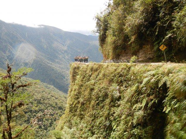 Death Road fietsen in Bolivia