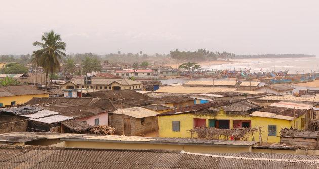 Uitzicht over Komenda, Ghana