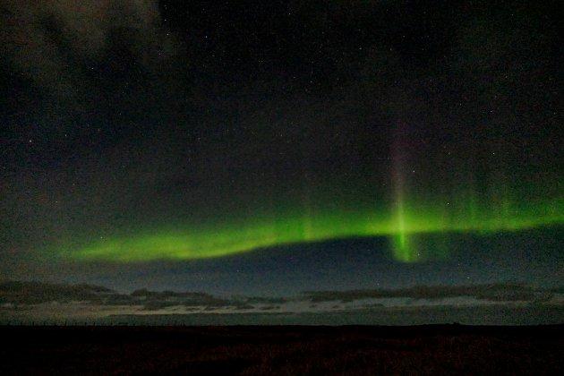 Het Noorderlicht in Snæfellsjökull National Park