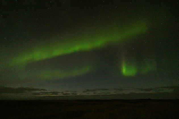 Het Noorderlicht op de gevoelige plaat vastgelegd in het Snæfellsjökull National Park