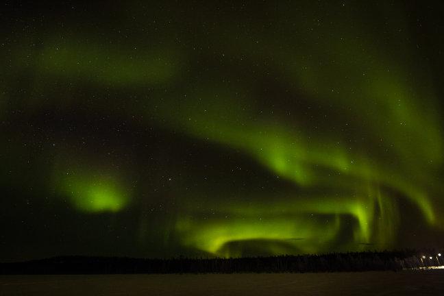 Wachten word beloond, het noorderlicht in Luosto
